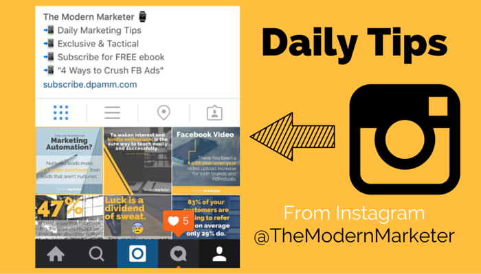 Marketing Tips from The Modern Marketer Instagram