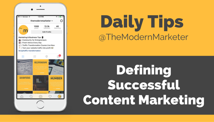 Defining Successful Content Marketing