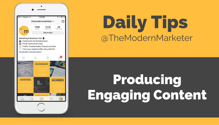 how to produce engaging content