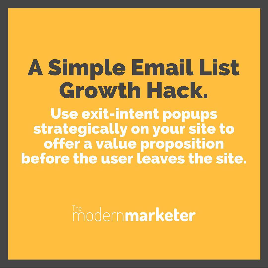 Email list growth hack