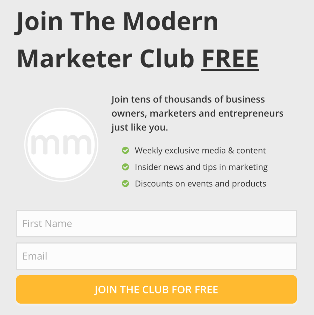 Slide in Opt in - The Modern Marketer by DPA