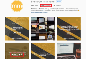 The Modern Marketer Instagram