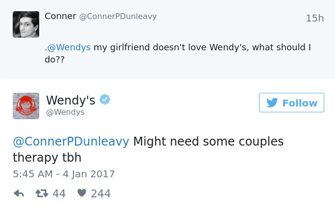 Wendy's on Twitter!