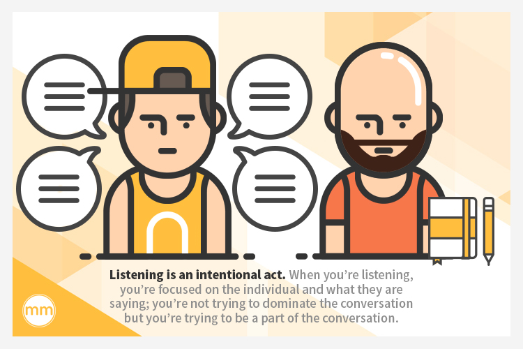 listening is an intentional act