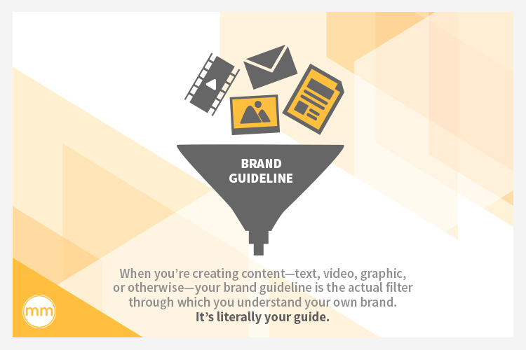 brand guideline is a filter