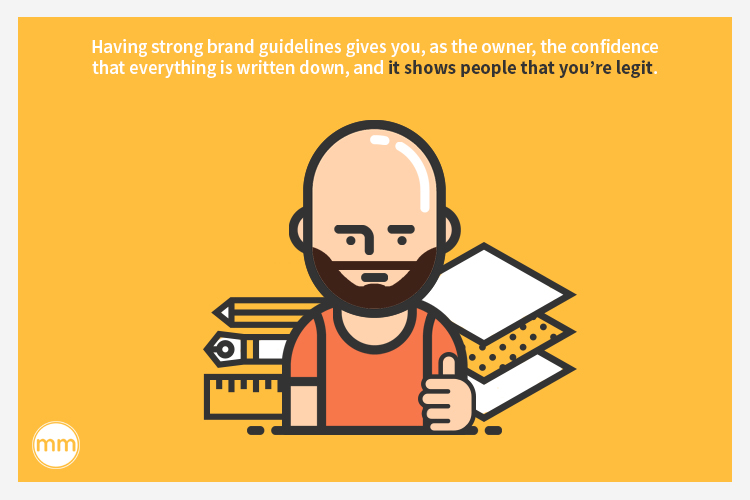 brand guideline shows you are legit