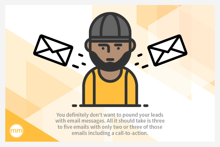 send leads 3-5 emails
