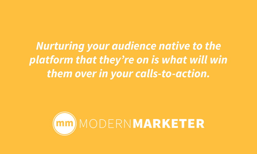 nurture your audience on social media
